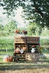 Rustic Chic, Dekorationsidee Gartenhochzeit, Inspiration Vintage Wedding
